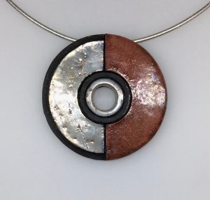 Round Pendant on Silver Wire